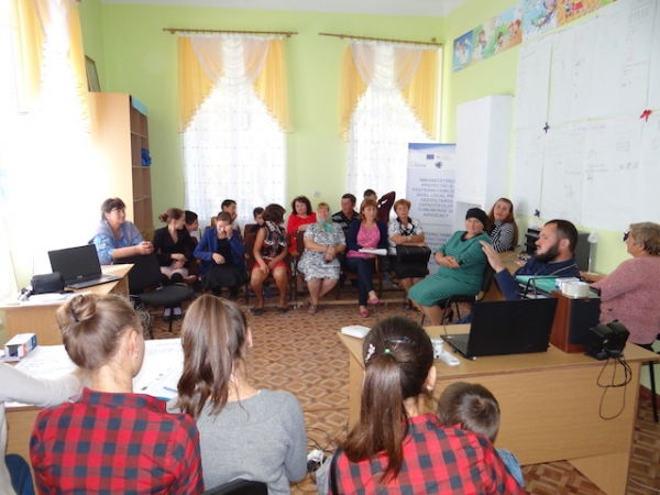 Planning workshop in village Zabriceni